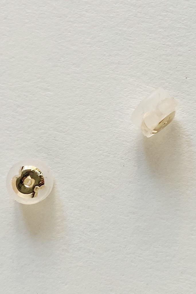 Melissa Joy Manning 14k Gold Prong Set White Opal Studs
