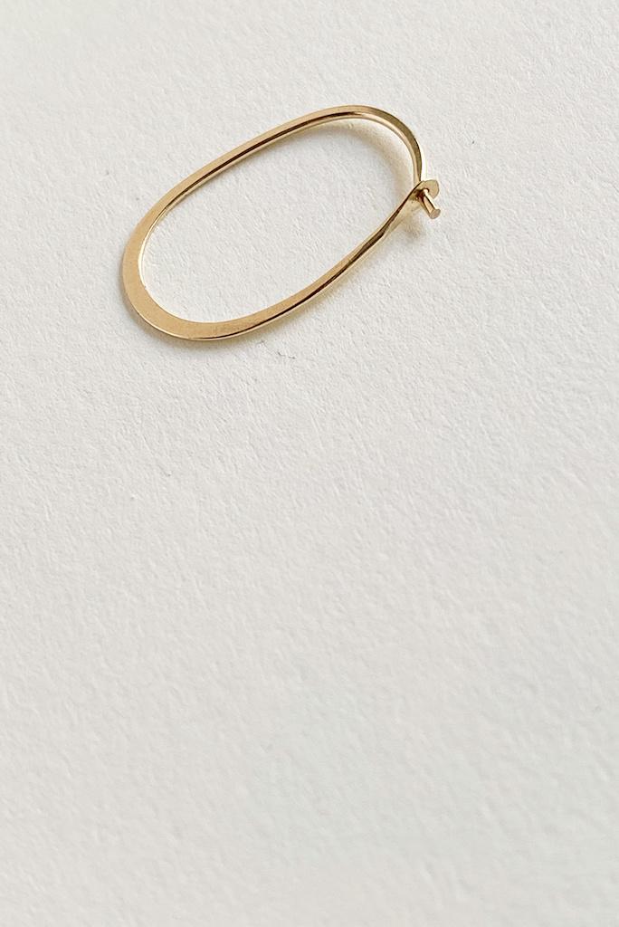 Melissa Joy Manning 14k gold oval hoops