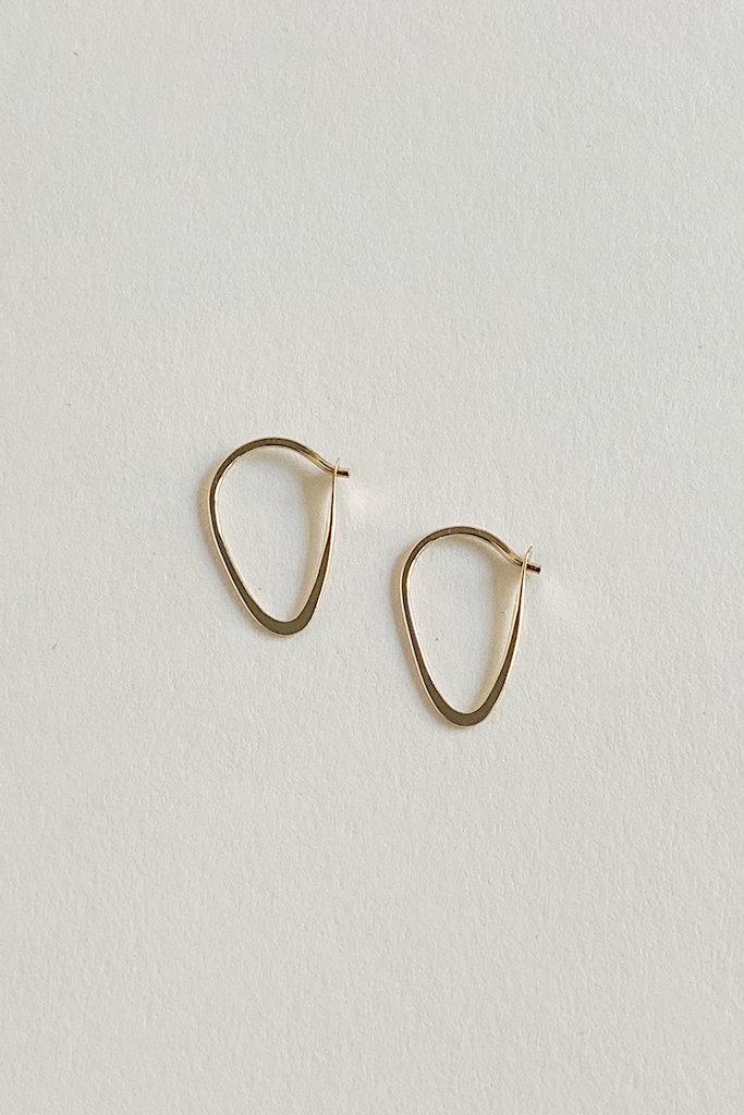 Melissa Joy Manning Extra Small Leaf Hoop Earrings