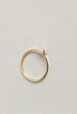 Melissa Joy Manning Small forged round hoops gold