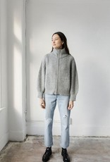Bare Knitwear Nazca Alpaca Knit Zip Up Jacket