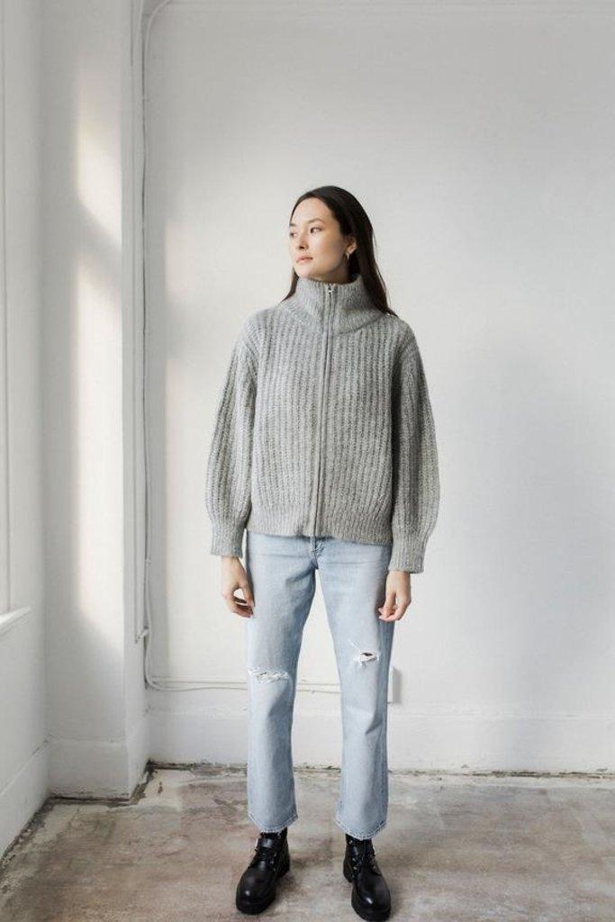 Bare Knitwear Nazca Alpaca Knit Zip Up Jacket