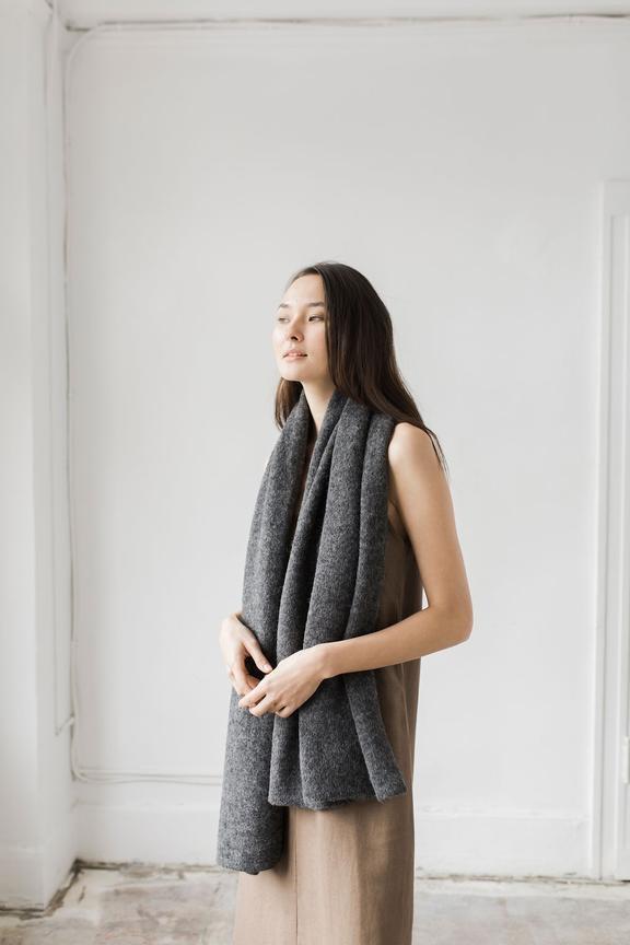 Bare Knitwear Travel Wrap Dark Charcoal