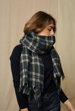 Mois Mont 475 Plaid Wool Scarf