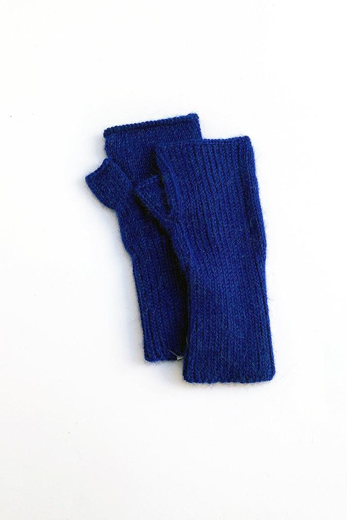 Karakoram Short Knitted Alpaca Fingerless Gloves - Multiple Colors