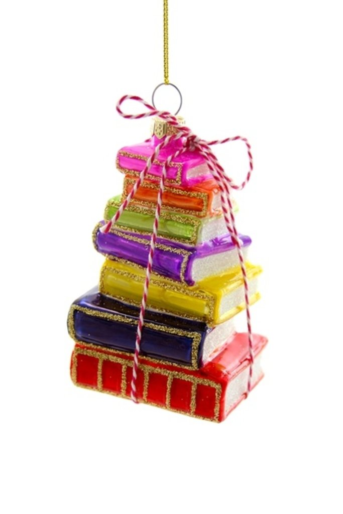Stacked Bright Tomes Ornament