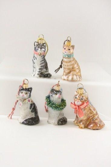 Cody Foster & Co Kitten Ornament - Multiple Colors