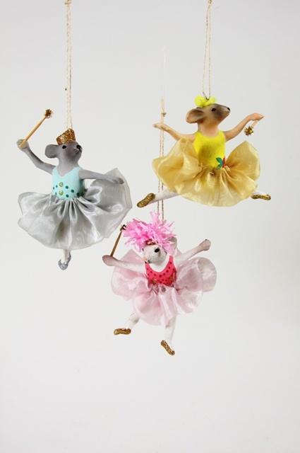 Ballerina Mice Ornament - Multiple Styles