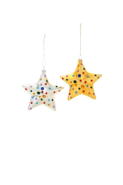 Jewelled Star Ornament - Multiple Colors