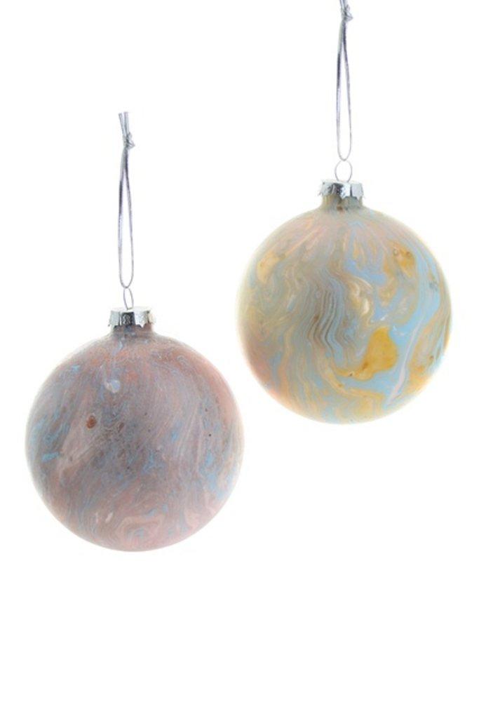 Marbled Balls Ornament - Multiple Colors
