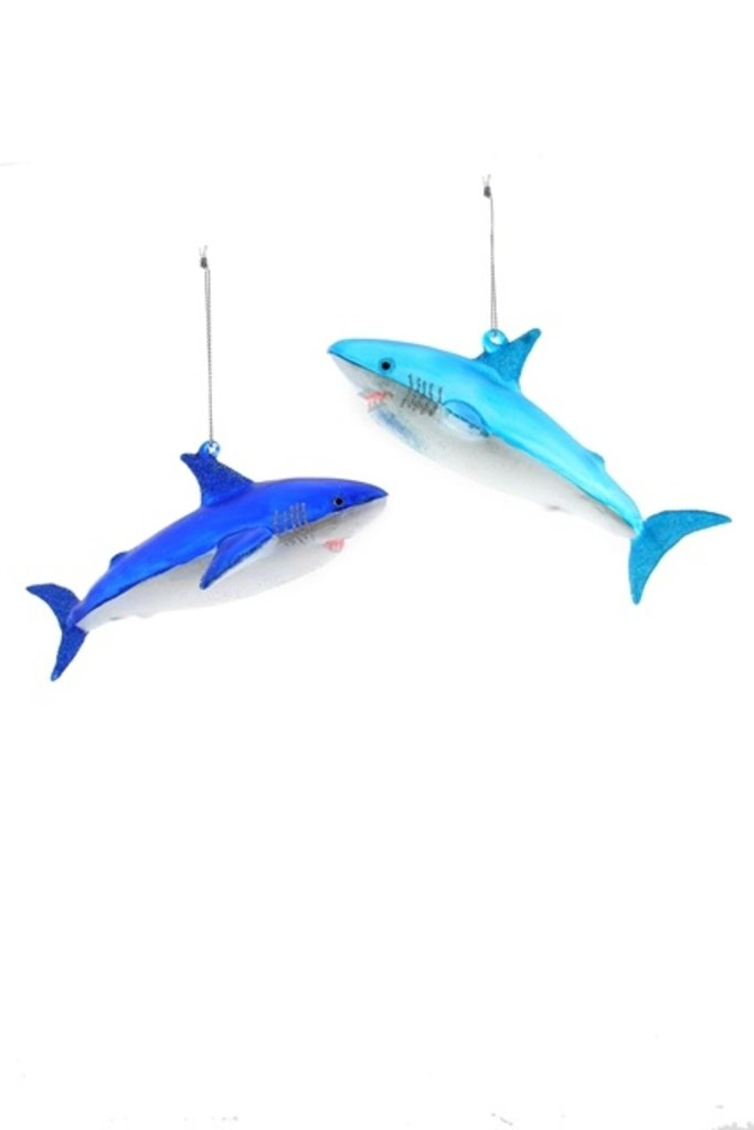 Shimmering Shark Ornament
