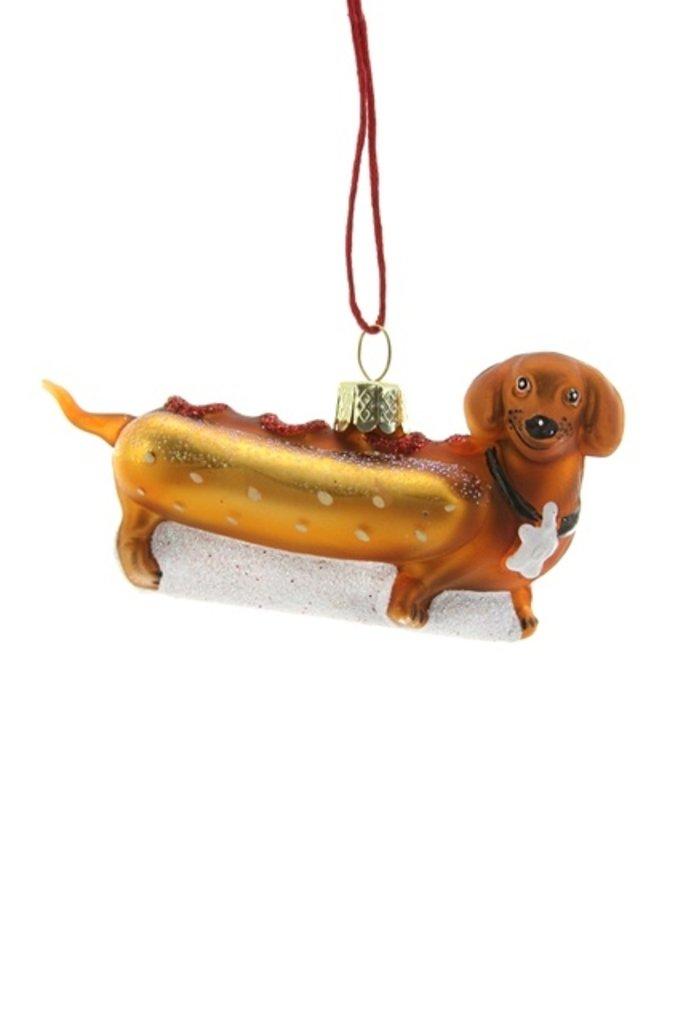 Weiner Pup Hot Dog Ornament