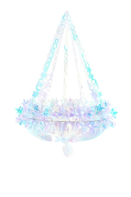 Iridescent Paper Star Chandelier