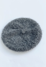 Karakoram 610  Knitted Alpaca Wool Beret in Charcoal