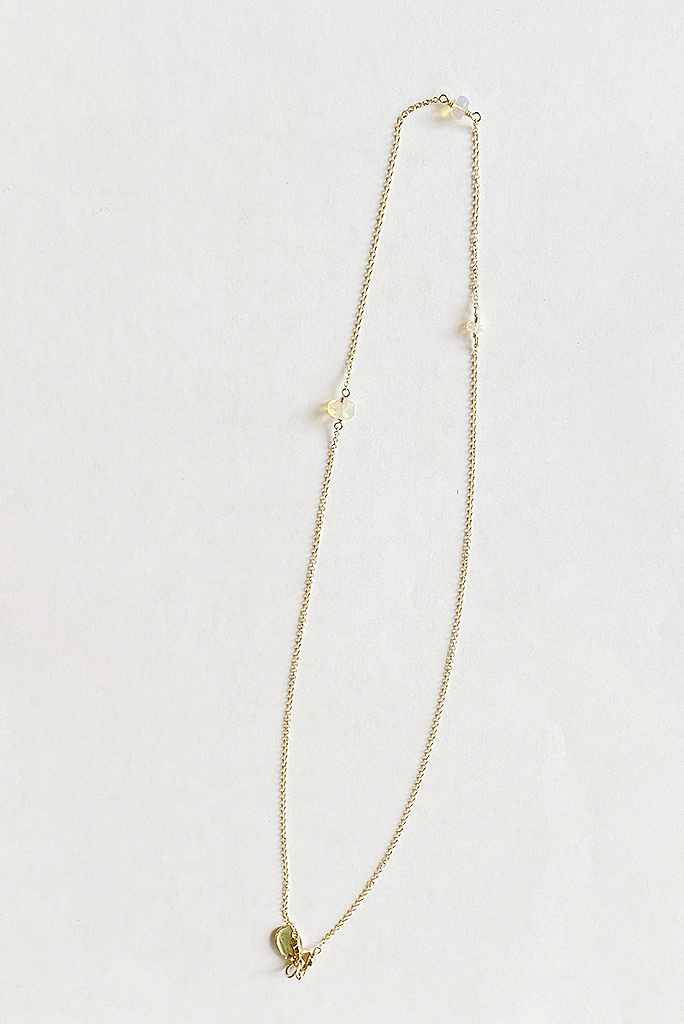 """Opal Triage Necklace Gold Fill  - 18"""""""