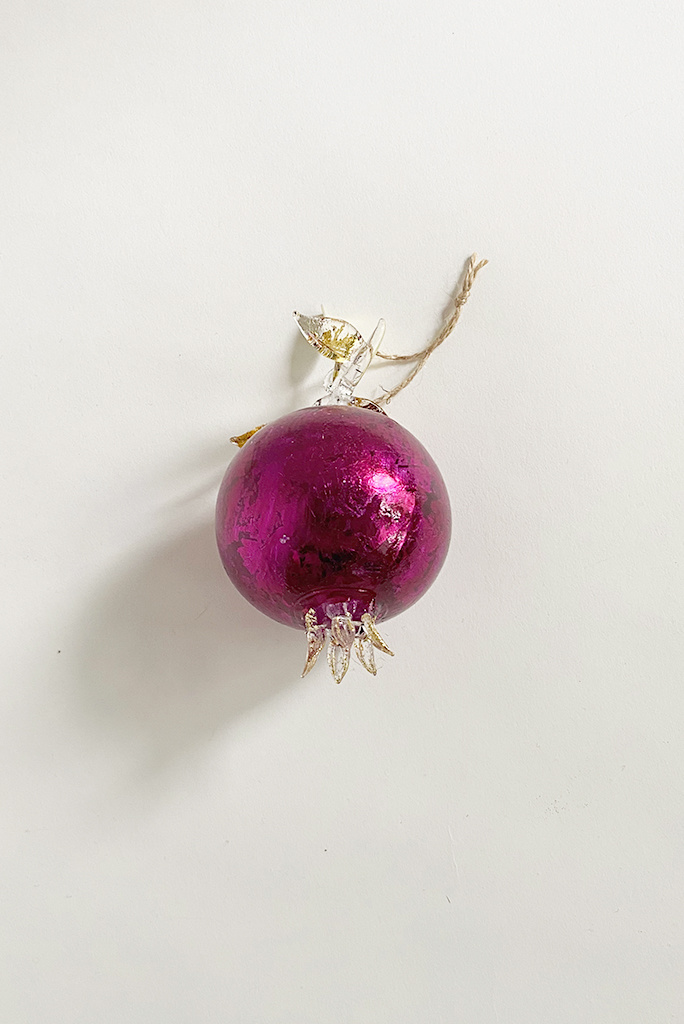 Shimmering Red Pomegranate Ornament