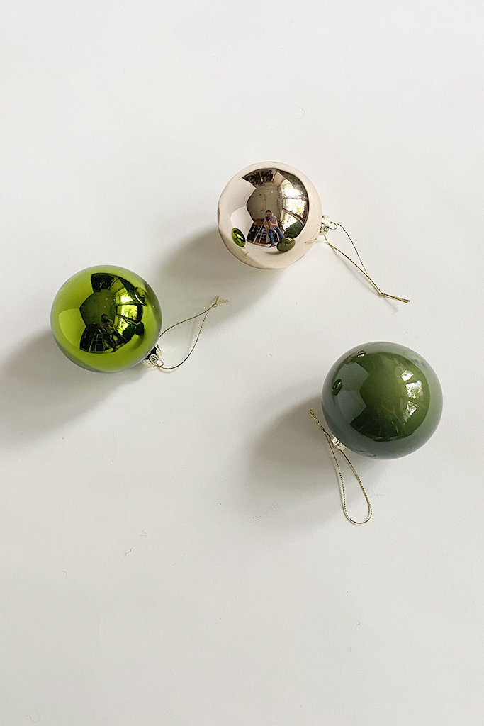 Solid Glass Ornaments - Multiple Colors