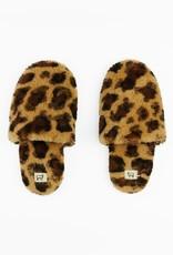 Toasties Hotel Slippers in Leopard Sheepskin