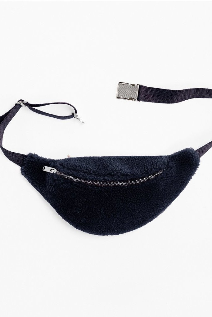 Toasties Sheepskin Bumbag in Navy