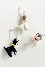 Felt Party Dog Ornament
