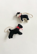 Felted Dog Ornament - Multiple Colors