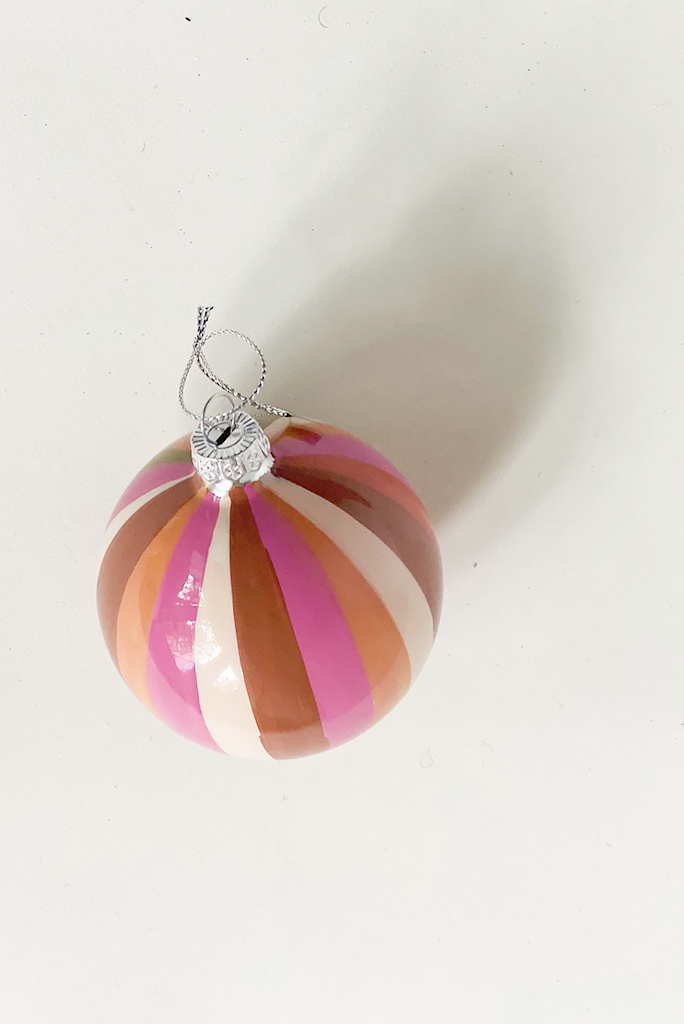 Tonal Pinwheel Baulble Ornament