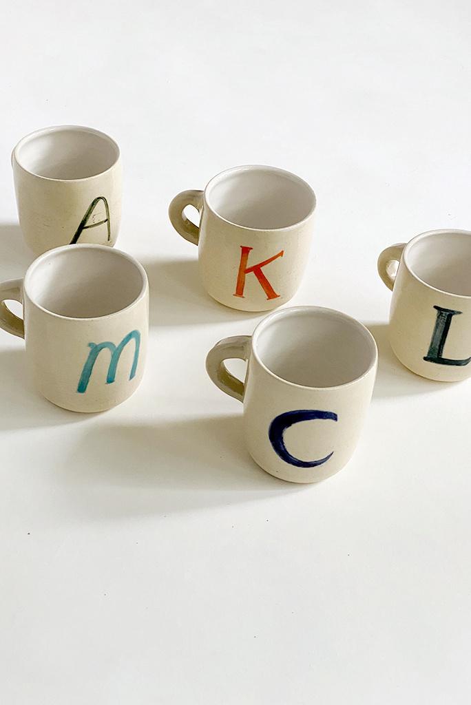 Alice Cheng Studio Ceramic Monogram Mugs