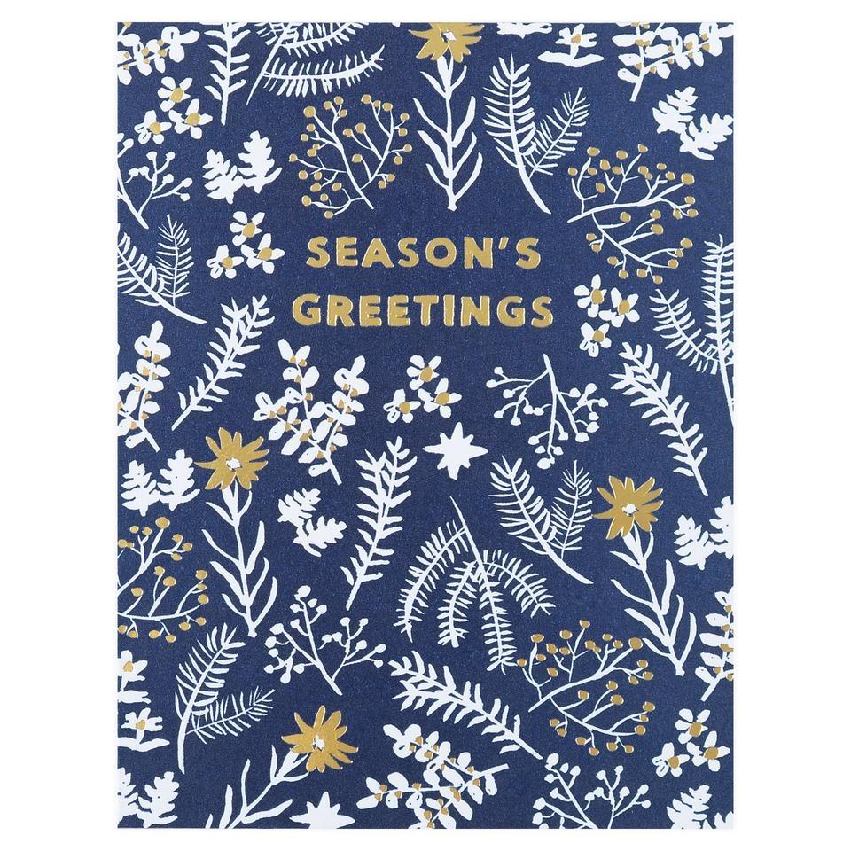 Winter garden Season's greeting Card