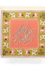 Antiquaria Merry Christmas Hankerchief Card