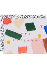 Moglea Happy Holidays Painted Card
