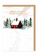 Family Cabin Holiday Card