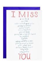 Mr. Boddington Cards I Miss You Card