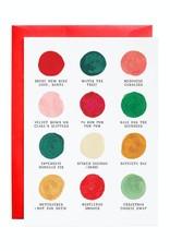 Mr. Boddington Cards Christmas Palette Card