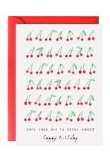 Mr. Boddington Cards Sweet Cherry Happy Birthday Card