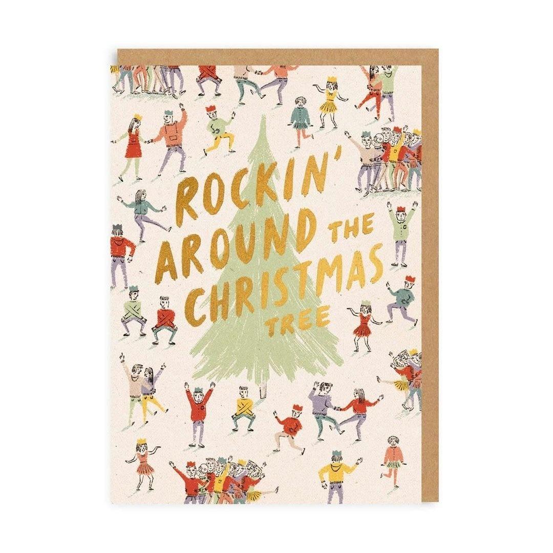 Rockin the XMas Tree Holiday Card
