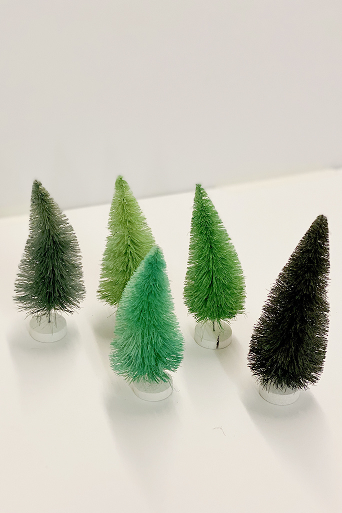Cody Foster & Co Small Bottle Brush Trees
