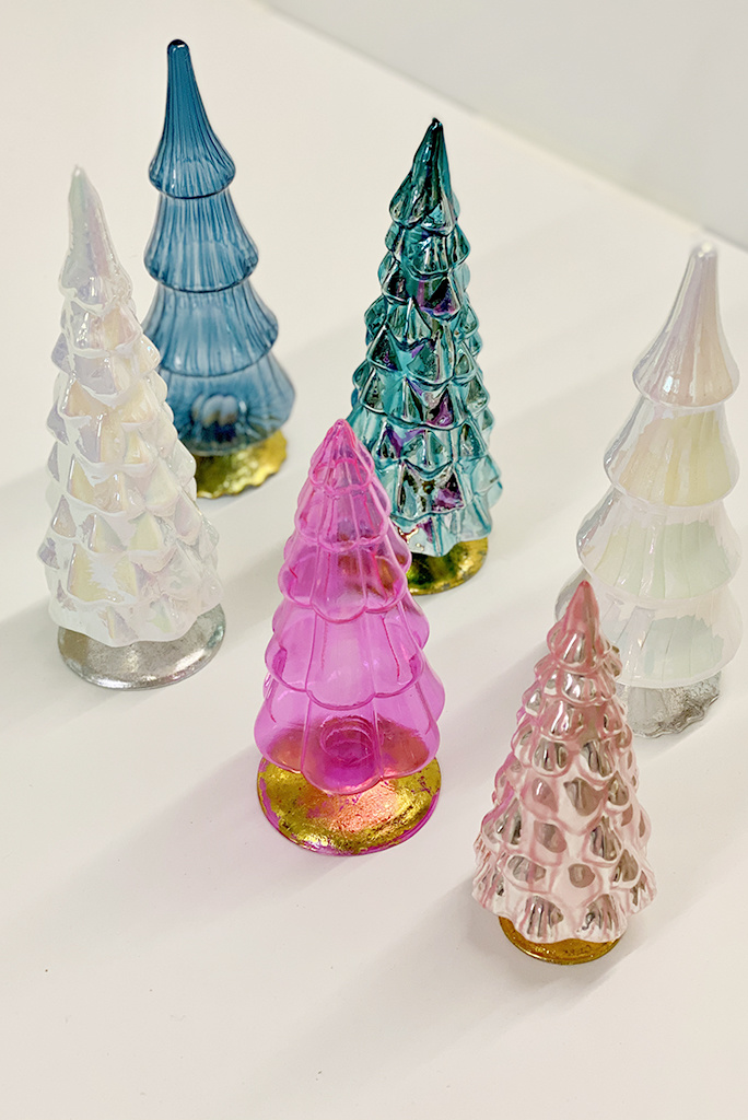 Medium Glass Trees- Multiple Colors