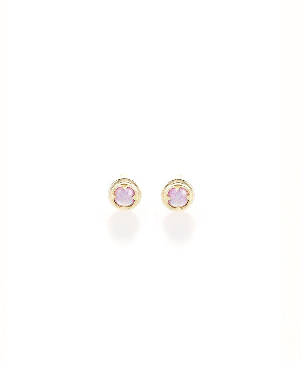 I Like It Here Club Australian Opal Studs Gold Plated