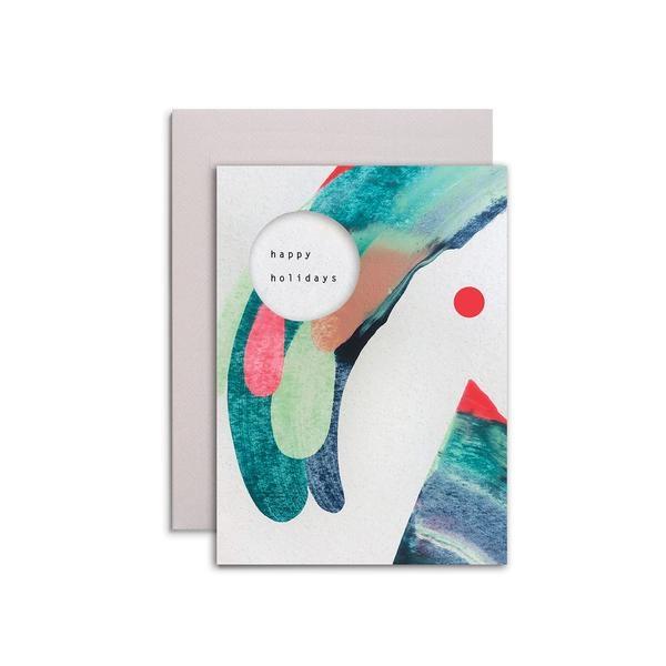 Moglea Happy Holiday Swirl Small Card