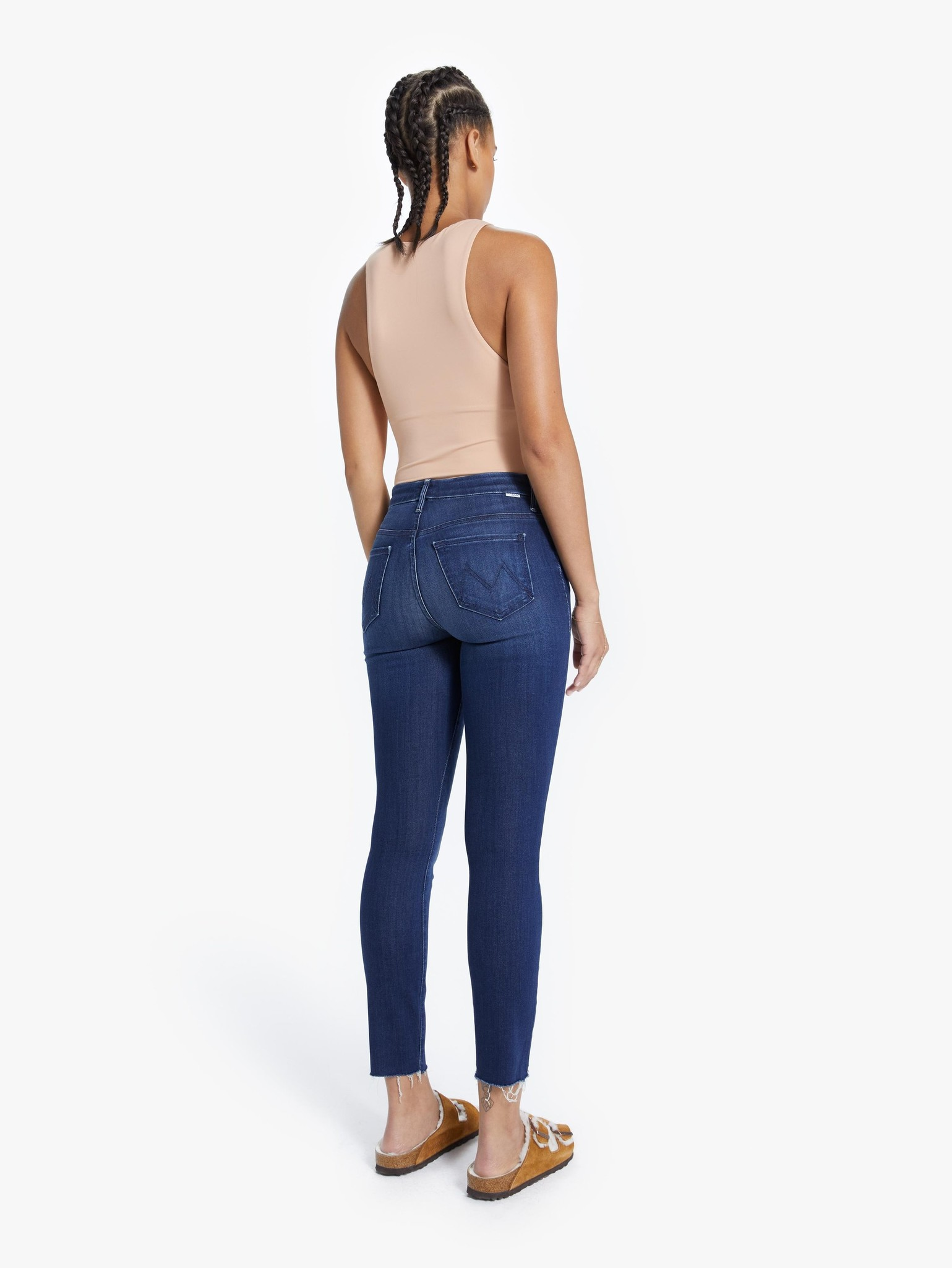Mother Looker Ankle Fray Jeans - Multiple Colors