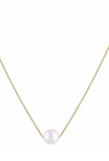 Trois Petits Points 18kt Gold Necklace with Pearl