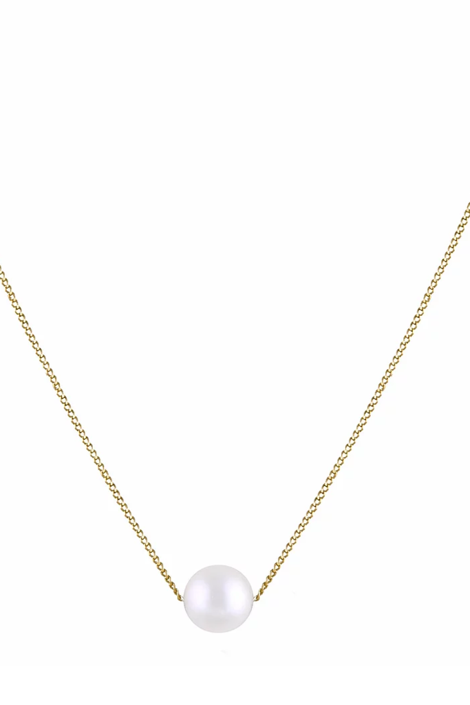 18kt Gold Necklace with Pearl