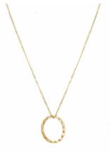 Trois Petits Points 18kt Gold Circle Navette Necklace