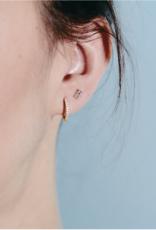 18kt Aquamarine Baguette Earrings