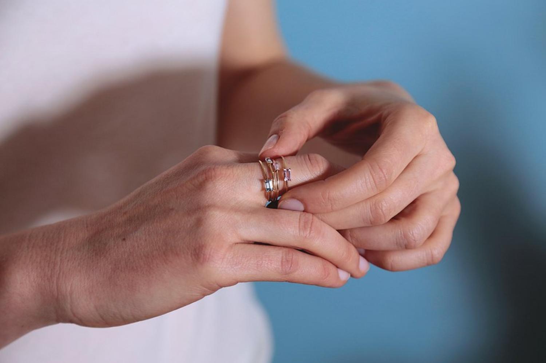 18kt Aquamarine Gold Ring