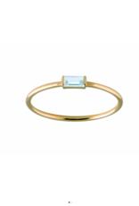 Trois Petits Points 18kt Aquamarine Gold Ring