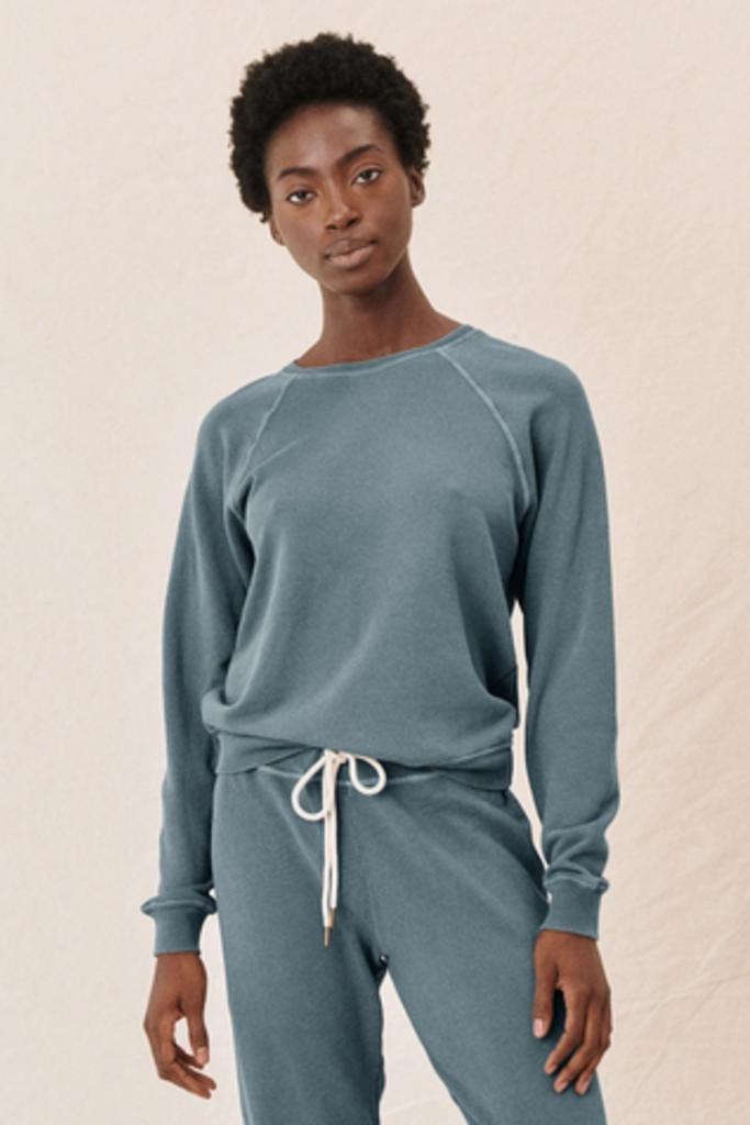The Shrunken Sweatshirt in Gaucho Blue