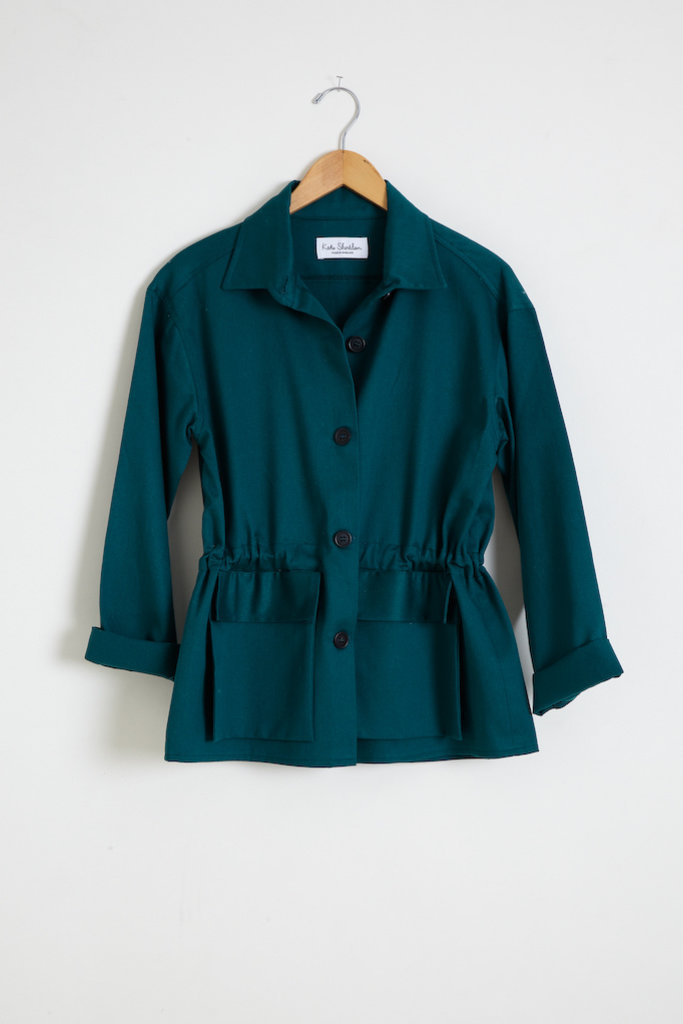 Kate Sheridan Travail Jacket in Cotton Drill