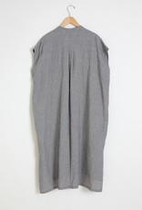 Mizuiro Mizuiro Linen Pocket Dress in Black & White Houndstooth