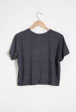Velvet Sky Short Sleeve Charcoal Top
